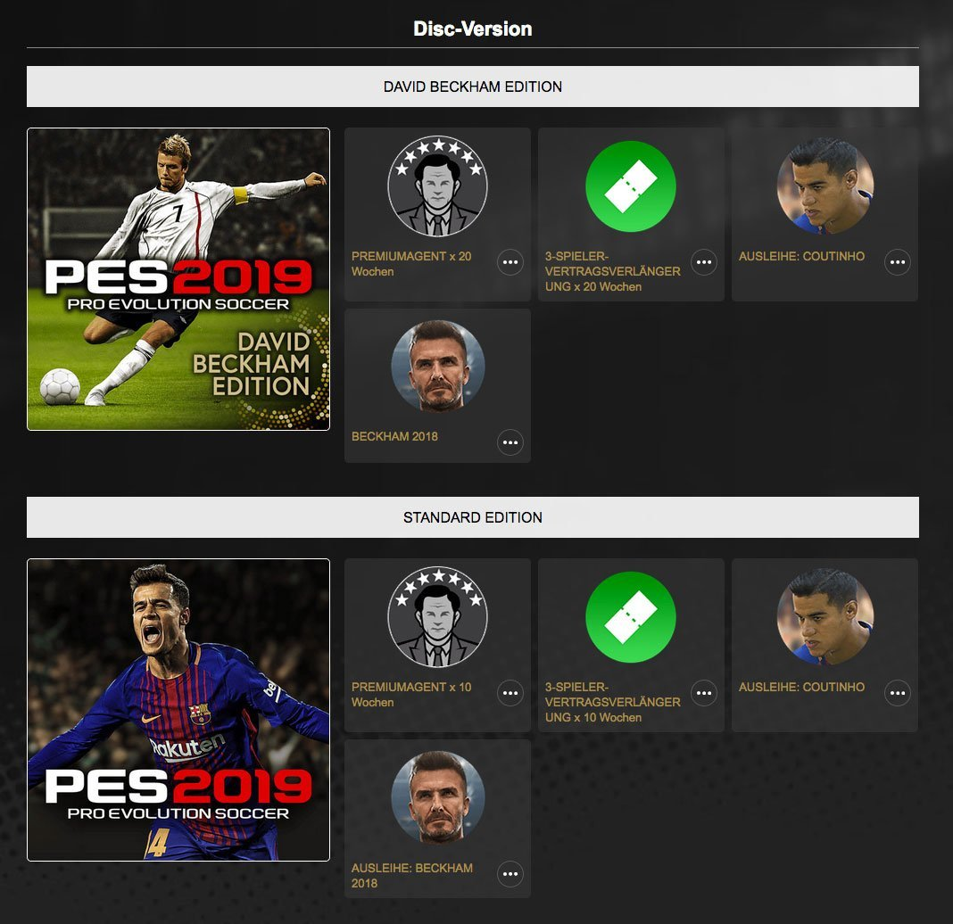 pes 2019 pro evolution soccer 2019 inkl bonus ps4. Black Bedroom Furniture Sets. Home Design Ideas